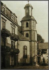 Die Russische Kirche/Reinhardskirche zur Zeit der Gründung der Russischen Gemeinde um 1908